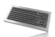 Rugged Intrinsically Safe Stainless Steel Desktop Keyboard.